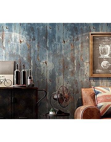 PEIWENIN-Fondos retros lisos retros Nonwovens Cementos Patrones de la pared Fondos del estilo industrial