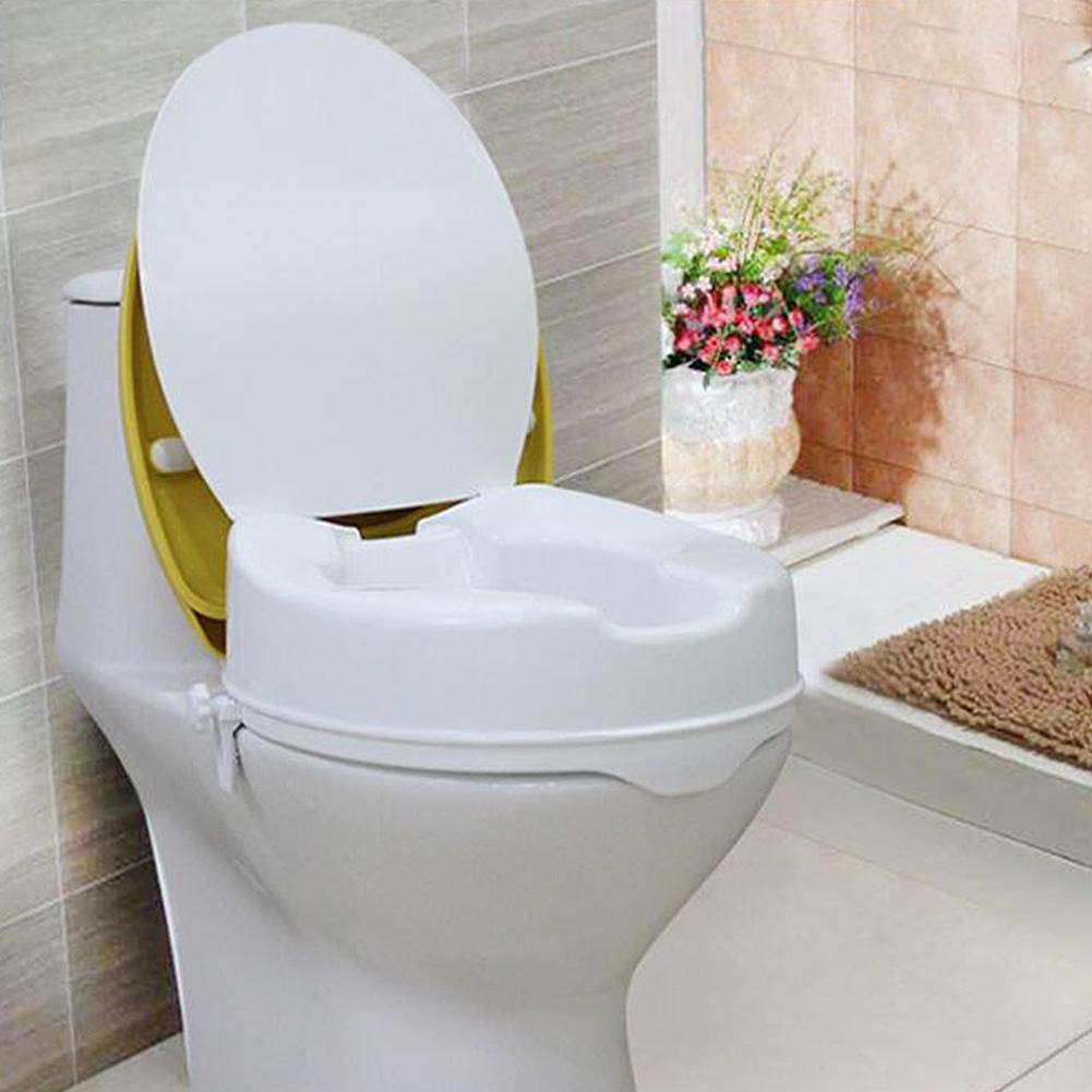 Senioren und Senioren 3,9-Zoll-Erh/öhter H/öhenverstellbarer abnehmbarer Deckel Badezimmer-Toilettenstuhl f/ür Behinderte Erh/öhter Toilettensitz
