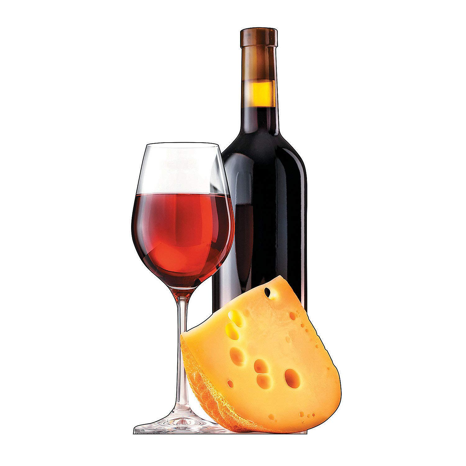 Fun Express - Cheese And Wine Standup - Party Supplies - Licensed Tableware - Misc Licensed Tableware - 1 Piece