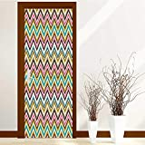 AmaPark New Art Decor Home Creative Triangle Stipes Border LikePrint Privacy Protection W38.5 x H77 inch