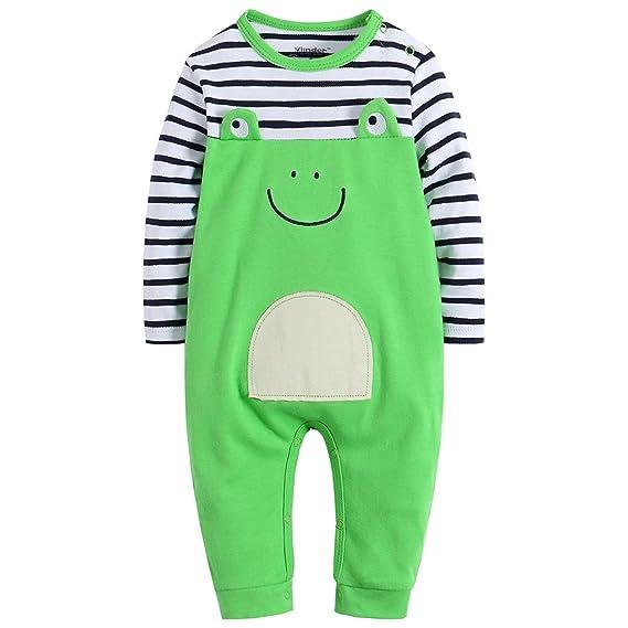 Bebé Niños Peleles Mamelucos de algodón Monos Estampado Animal Pijama de Manga Larga: Amazon.es: Ropa y accesorios
