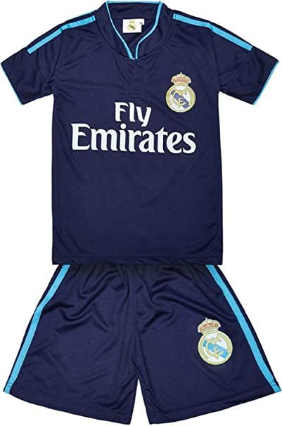 brand new 2b929 d494b Sportyway Replica Kids Bale 11 Real Madrid Football Jersey Set Dark Blue