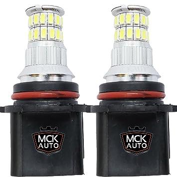 MCK Auto P13W LED Canbus Muy claras, pequenas y facil de reemplazar Luces de Conducción Diurna Bombillas LED Canbus Xenón DRL P13W Cree 36SMD EB3R3: ...