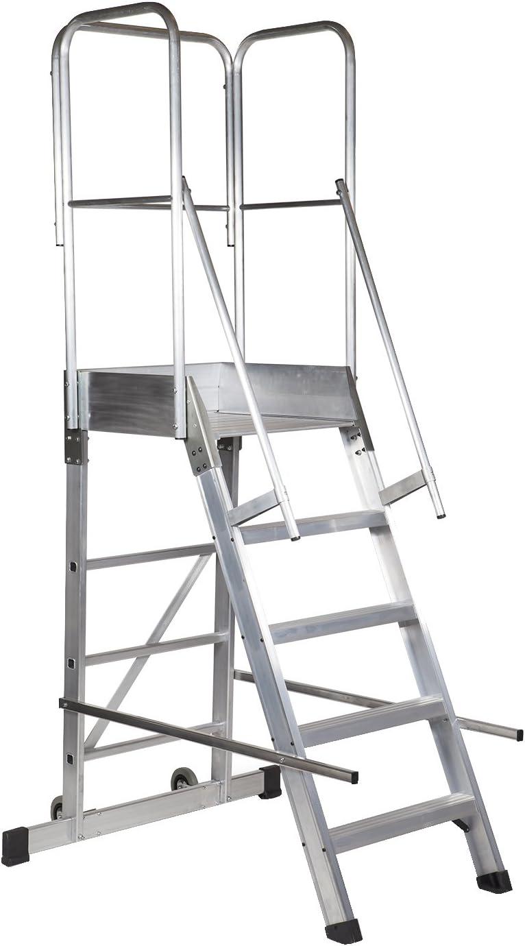 Arcama 1EP60060124 Escalera plataforma móvil industrial, 60 x 60 x 124 cm: Amazon.es: Bricolaje y herramientas