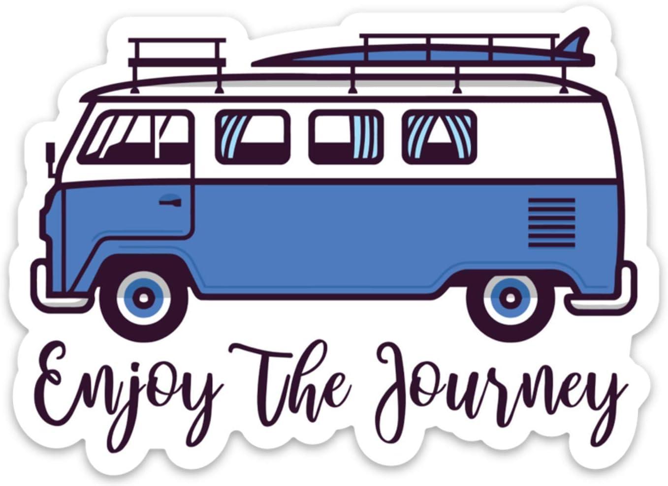 Stickeroonie Enjoy The Journey Sticker Decal Adventure Surf Camping 4