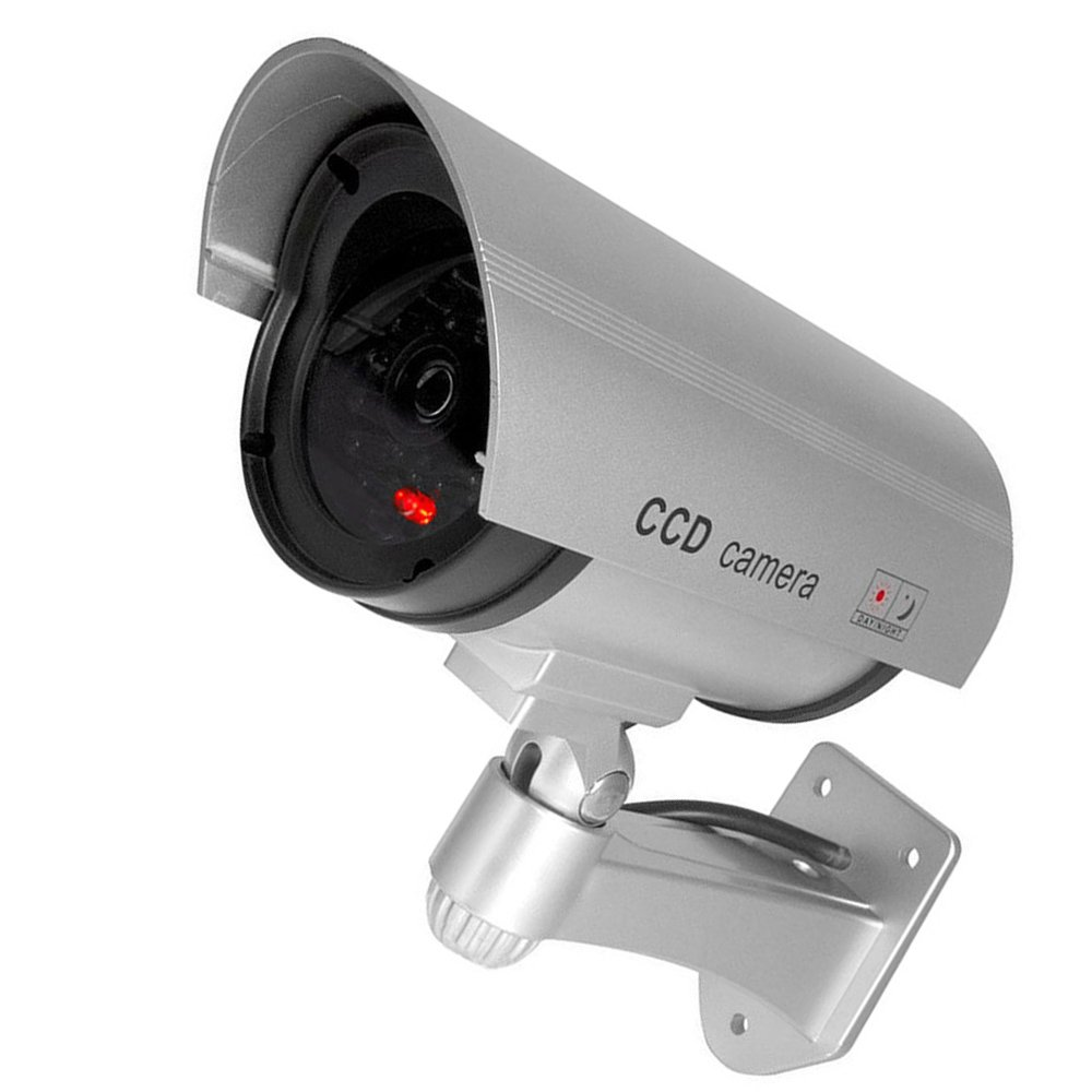 HOUTBY 6 X Simulated Silver Fake Dummy Security CCTV Camera Waterproof IR LED Light Outdoor Indoor Surveillance by HOUTBY