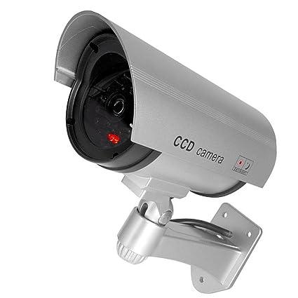 Bullet IR Dummy Fake Security CCTV Surveillance Camera LED Sensor Light Black