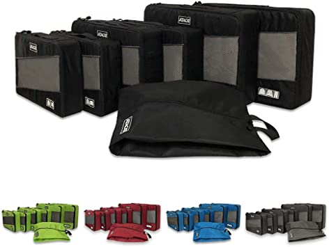 TooPhoto Grid 6 Set Packing Cubes Travel Planner Luggage Organizer Bag Box Case