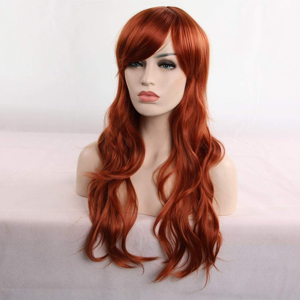 ... Full Wig for Women,Huphoon 1PC High-Temperature Resistance Fibr Synthetic Hair for Cosplay Halloween Party Dress up,31 inches (Brown): Office Products