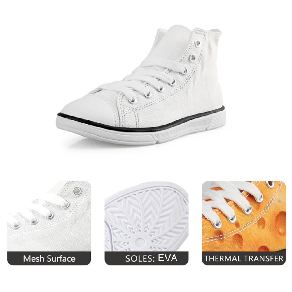 FOR U DESIGNS Cool Animal Fur Leopard Print Brown Canvas High Top Shoes for Childen Lace-up US 12.5 by FOR U DESIGNS (Image #2)