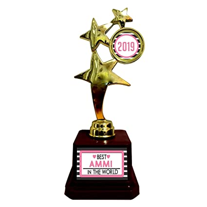 YaYa Cafe Mothers Day Gifts Best Mom in The World Trophy
