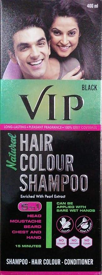 Buy Vcare Vip Hair Colour Shampoo 5 In 1 180ml Black Online At