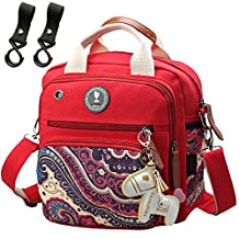 Designer Small Nappy Changing Backpack Baby Diaper Bag Tote Ruksack Red Organizer for Mom Rucksack
