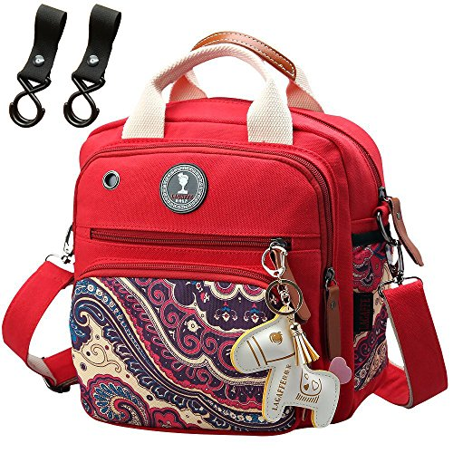 Multifunction Mini Smart Diaper Bag Backpack Baby Messenger for Boy Girl(Red)