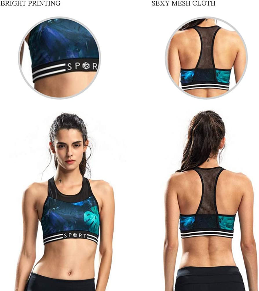 SILIK Sujetador Deportivo El/ástico Hueco para Mujer para Fitness Yoga con Almohadillas Desmontables