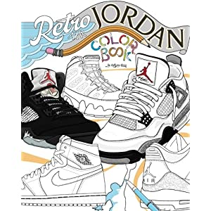 Retro Air Jordan: Shoes: A Detailed Coloring Book for Adults and Kids (Retro Jordan) (Volume 1) 5