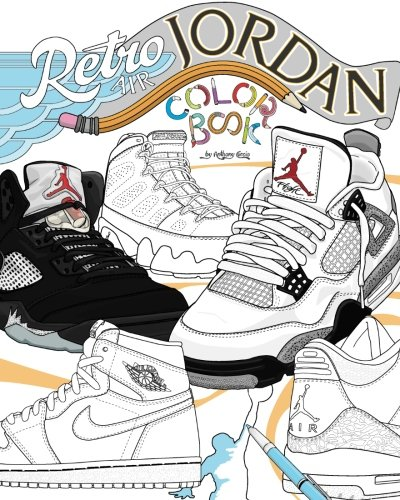 Retro Air Jordan Detailed Coloring