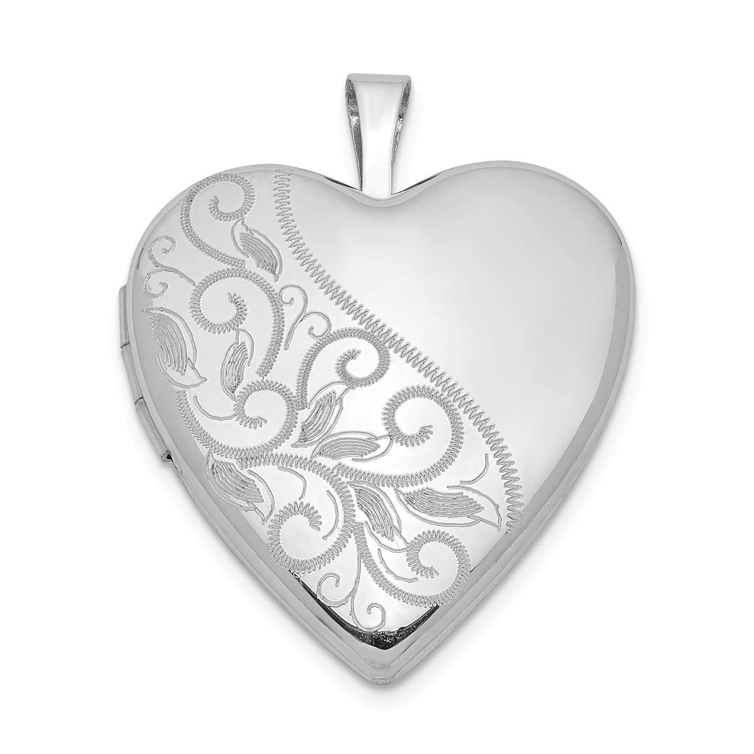 ICE CARATS 925 Sterling Silver 20mm Swirl Heart Photo Pendant Charm Locket Chain Necklace That Holds Pictures Fine Jewelry Ideal Gifts For Women Gift Set From Heart