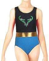 BAOHULU Girls Gymnastics Clothes Shiny Spliced Diamond Mermaid Tank Dance Leotard 3-12 Years