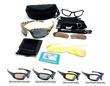 Nuevo Daisy X9 Camuflaje Polarizado Estilo militar Gafas deportivas tácticas Gafas al aire libre 4 lentes