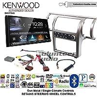 Volunteer Audio Kenwood DMX7704S Double Din Radio Install Kit with Apple CarPlay Android Auto Bluetooth Fits 2003-2004 Infiniti G35 (Gun Metal) (Single zone A/C controls)