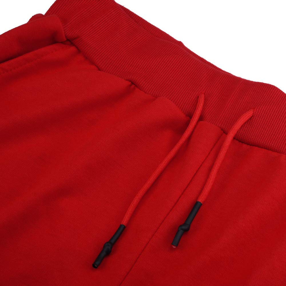 Men's Joggers Sweatpants Ankola Men's Active Sports Running Workout Pant with Pockets Casual Trouser (XXXL, Red) by Ankola-Men's Pants (Image #5)