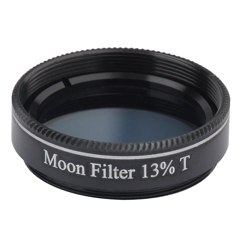Gosky 1.25' 13% Transmission Moon Filter for Telescopes - Quality Optical Glass Filter - Metal Flamework