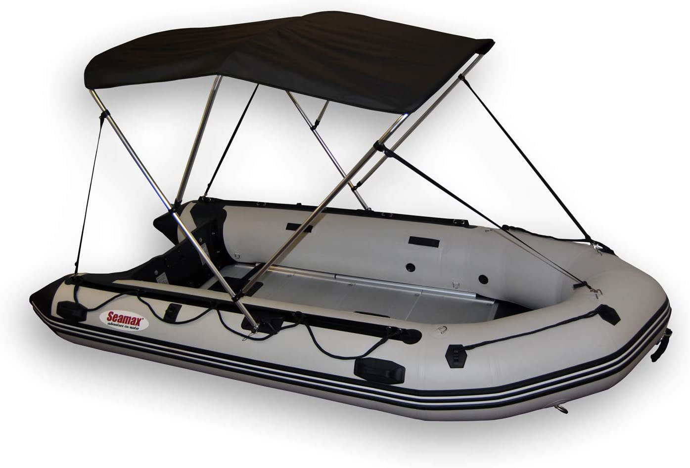 Seamander Bimini Top for Inflatable Boat,Rib Boat Cover with Mounting Hardware