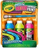 Crayola Washable Sidewalk Neon Paint Tray , 9 piece kit (2-Pack)