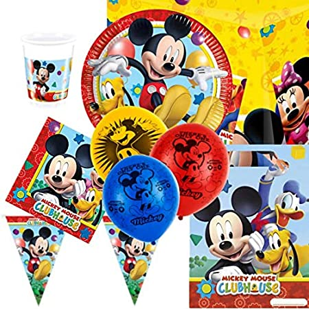 El Pack para fiestas del Playful Mickey carcasa, vasos ...