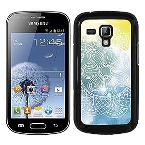Funda carcasa para Samsung Galaxy S Duos estampado mandala azul amarillo borde negro