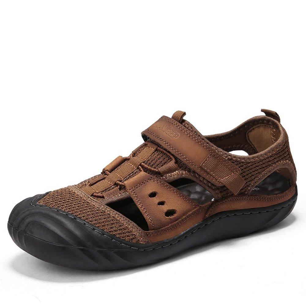 WSQ Herrenschuhe Herrenschuhe Herrenschuhe Sommer Leder Herren Sandalen Baotou Beach Schuhe Coole Lederschuhe Breathable Outdoor Casual Schuhe 6913e2