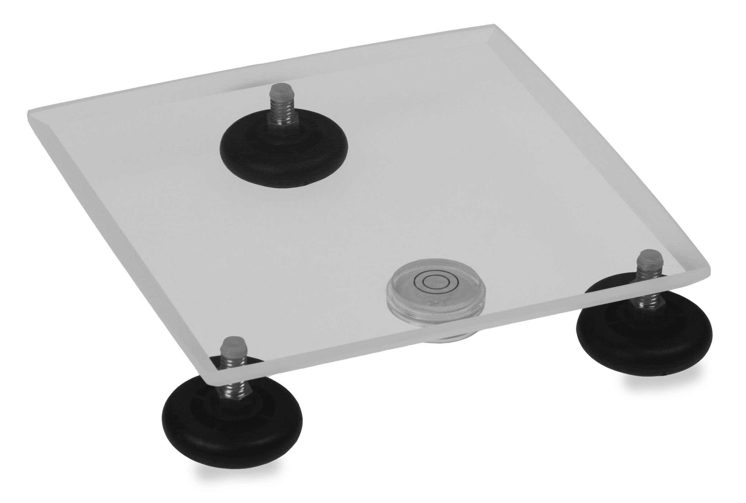 TrippNT 50530 Clear Acrylic Leveling Table, 8'' Width x 1'' Height x 8'' Depth