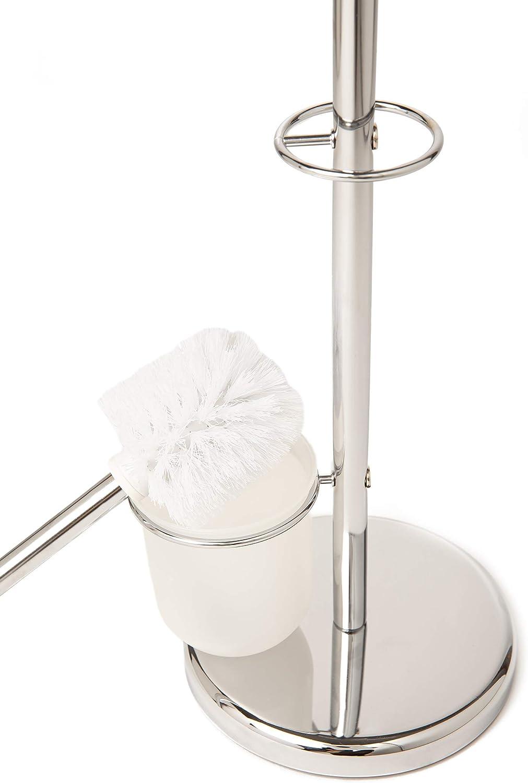Pristine dise/ño elegante y pr/áctico Portarrollos de papel higi/énico Con Escobilla cromado