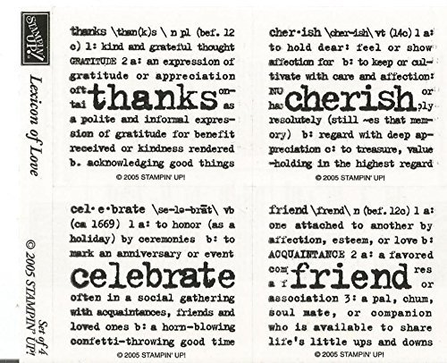 Stampin Up 2005 Lexicon Of Love 4 Stamps Org Pkg Cherish Celebrate Friend from stampin up