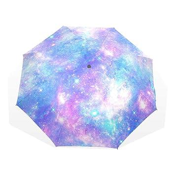 8e184b800e79 Amazon.com: Umbrella Pink And Blue Magical Galaxy Star Travel Golf ...