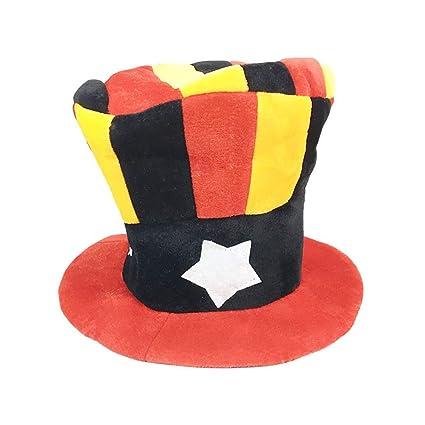 LUOEM Cappello Clown Cilindro Accessorio Costume Pagliaccio Adulto  Carnevale Mardi Gras 290c59a81935
