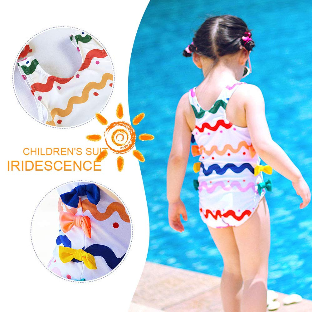 Toddlers Swimsuit Girls Bathing Suit Elsa Princess One Piece Ruffle Swimwear Tankini for Baby Girls