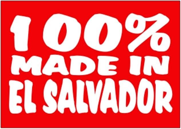 Teeburon 100 Made in El Salvador Pack de Pegatinas x4: Amazon.es: Hogar