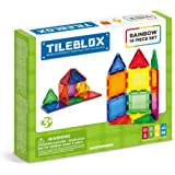 Tileblox Rainbow 14pc Set Magnetic Building Blocks, Educational Magnetic Tiles Kit , Magnetic Construction STEM Toy Set