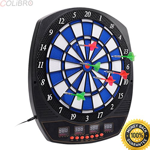 COLIBROX--Arachnid Electronic Dart Board Set Target Game Room LED Display w/ 6 Darts. dart boards near me. electronic dart boards for sale amazon. walmart electronic dart boards.dart board electronic.