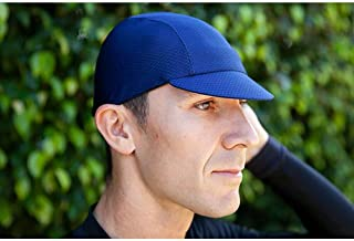 product image for Pace Sportswear Hex-Tek Cycling Cap - UPF 50 Plus, Navy, MD/LG
