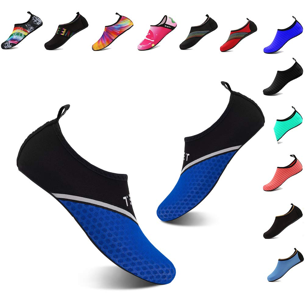 YALOX Water Shoes Womens Mens Outdoor Beach Swimming Aqua Socks Quick-Dry Barefoot Shoes Surfing Yoga Pool Exercise