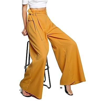 1515d9f18fb Love   Freedome 2019 High Waist Belted Zipper Palazzo Pants Ginger Frill  Waist Ruffle Wide Leg