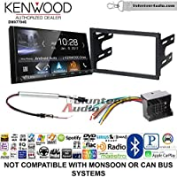Volunteer Audio Kenwood DMX7704S Double Din Radio Install Kit with Apple CarPlay Android Auto Bluetooth Fits 2003-2005 Volkswagen Golf, Jetta, Passat