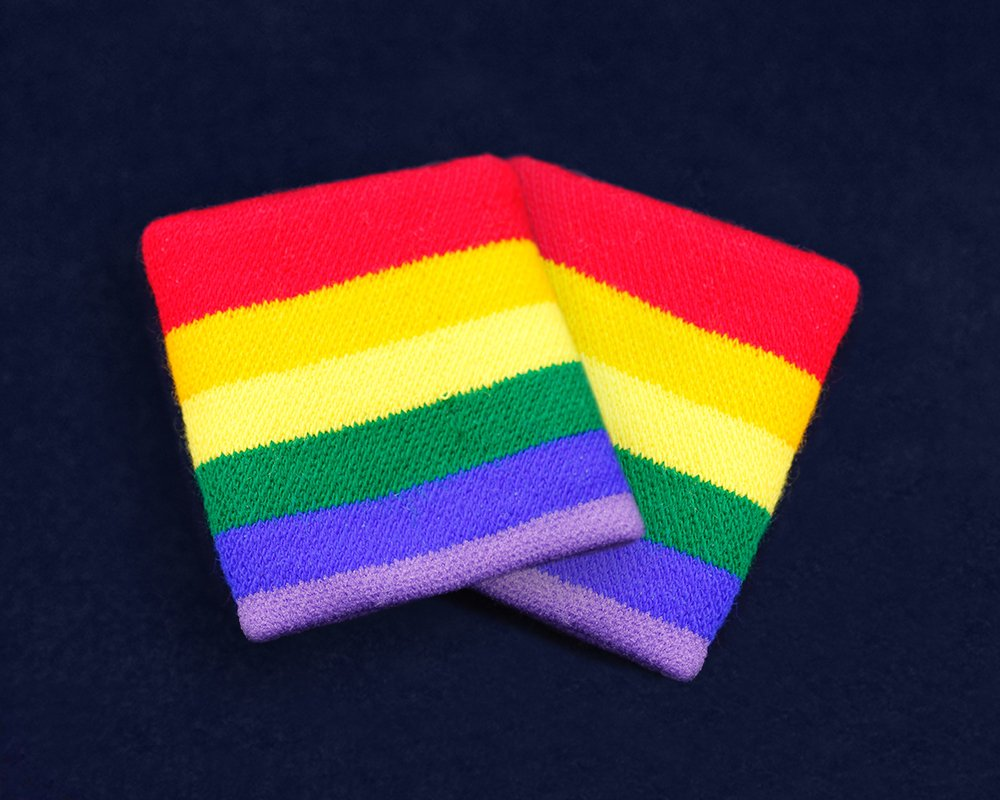 Fundraising For A Cause Rainbow Sport Sweat Band in a Bag (1 Pair - Retail) by Fundraising For A Cause (Image #1)