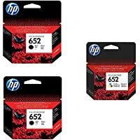 HP 652 2 Black Ink Cartridges and 1 Color Ink Cartridge Set