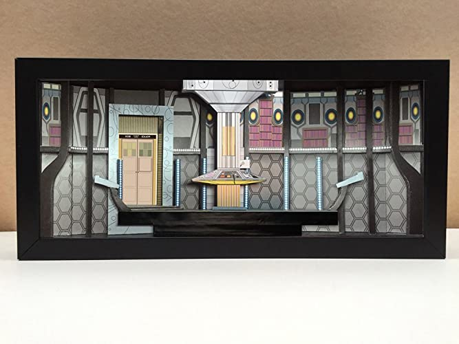 Amazon Doctor Who Tardis Interior Shadowbox Diorama