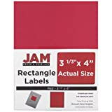 JAM PAPER Shipping Address Labels - Large - 3 1/3 x 4 - Red - 120/Pack