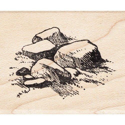 Art Stamp Rock Rubber - Rocks Rubber Stamp Scenic Stamp
